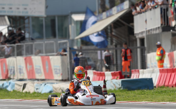 Leonardo Marseglia races the second round of the CIK-FIA European Championship at PFI