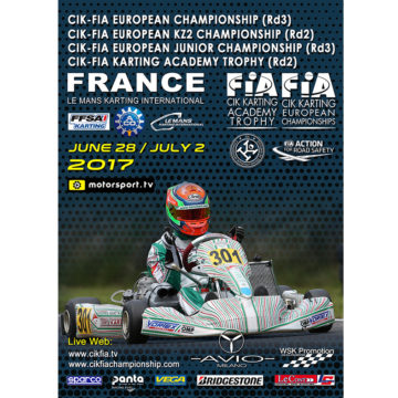 CIK-FIA European Championship OKJ rd.3 – Le Mans (F), 02/07/17