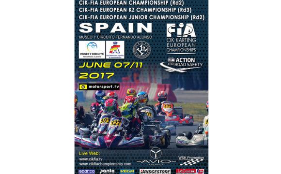 CIK-FIA European Championship OKJ rd.2 – Oviedo (E), 11/06/17