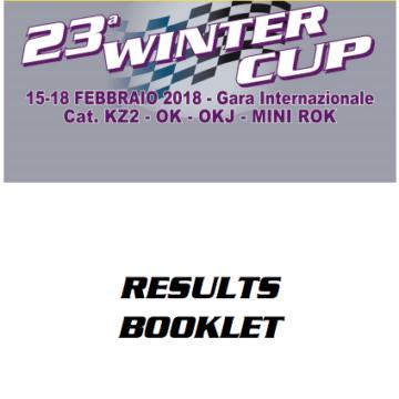 23° Winter Cup – Lonato (I), 18/2/2018