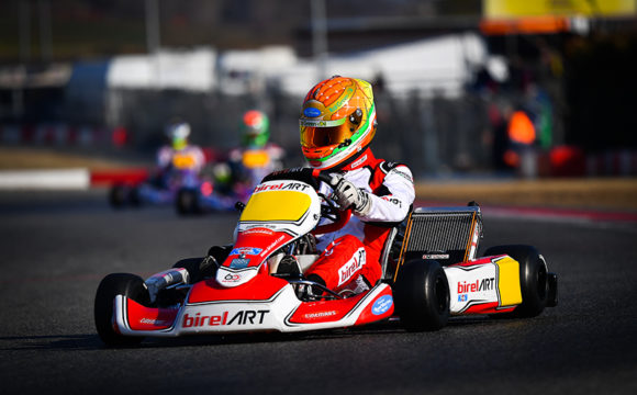 Leonardo Marseglia steps on the podium in Sarno