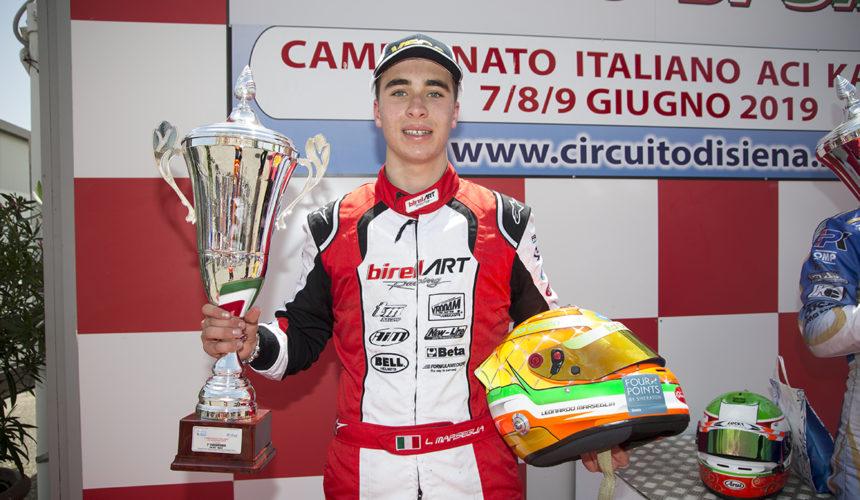 Leonardo Marseglia è 2° nel Campionato Italiano ACI Karting
