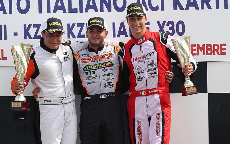 Leonardo Marseglia on podium in Val Vibrata