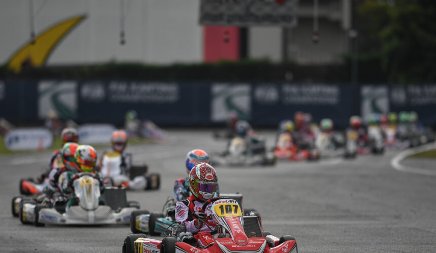 Leonardo Marseglia closes in fourth place at the weekend of FIA Karting World Championship