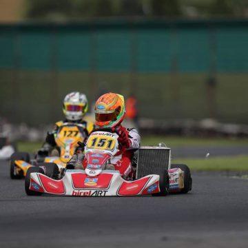 Leonardo Marseglia sale sul 2° gradino del podio all'ACI Karting